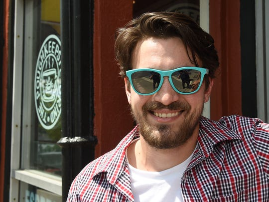 Patrick McGuire outside his soon to open coffee shop,