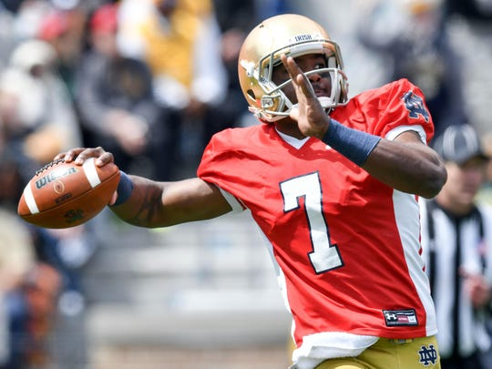 With DeShone Kizer in the NFL, it's Brandon Wimbush's time to shine in South Bend.