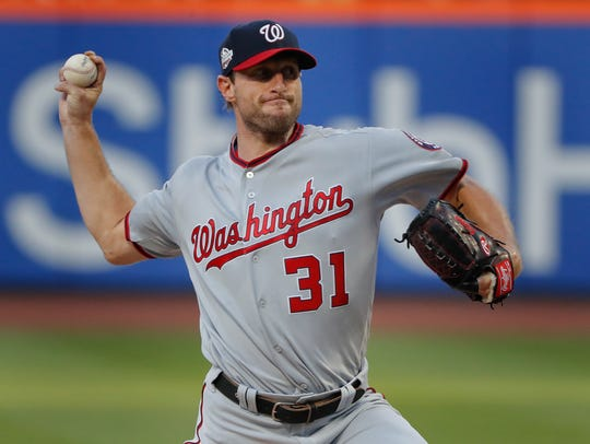 Washington Nationals starting pitcher Max Scherzer