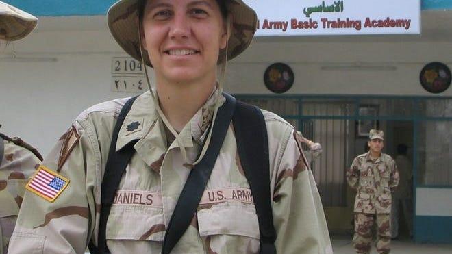 Then Lt. Col Jody Daniels in Iraq.