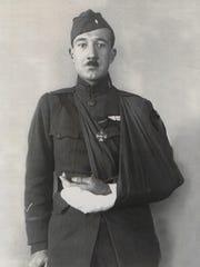 1st Lt. Waldo Heinrichs of Middlebury following one