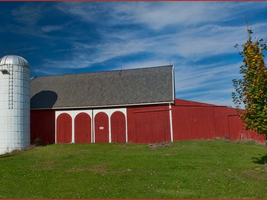 One of the many beautifully restored  barns near Manchester.