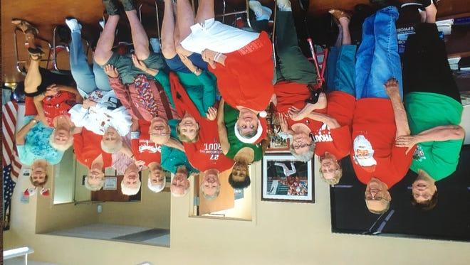 Members of Millville Senior Center celebrate Christmas in July.
