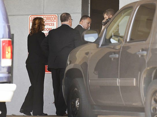 Suspended Sheriff Will Lewis enters the Greenville