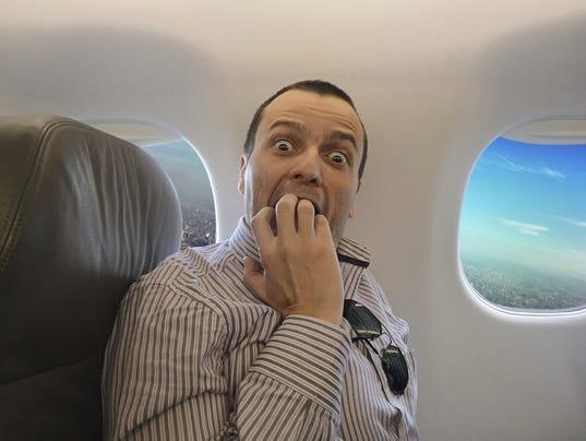 scared plane dude