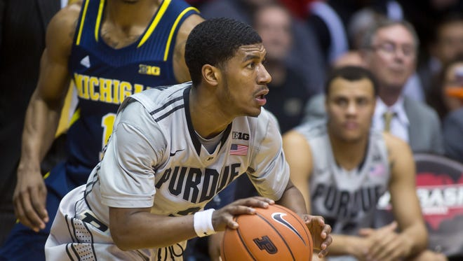 Purdue's Ronnie Johnson brings the ball up the court during their game against Michigan Wednesday, February 26, 2014.