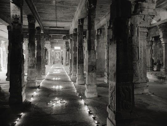 """Kanchipuram #638,"" by  Kenro Izu, depicts the interior"