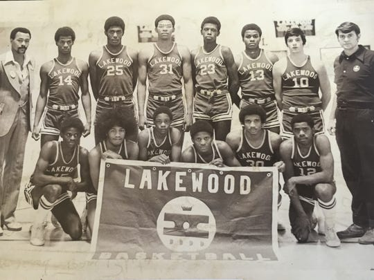 The 1974-75 Lakewood Piners, who finished the season with a dramatic win over East Orange in the NJSIAA Group III final.