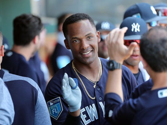 New York Yankees third baseman Miguel Andujar (67)