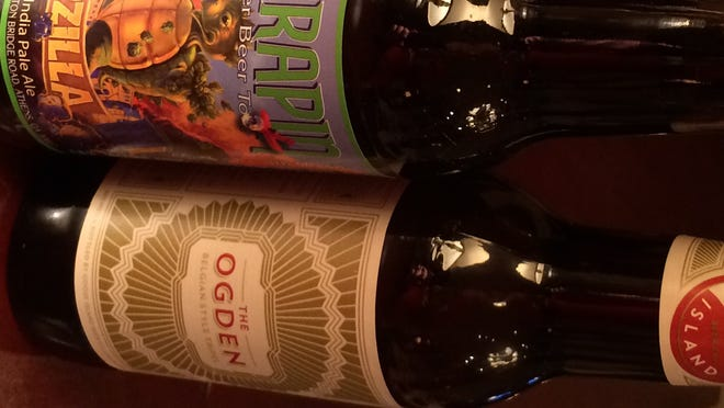 Three recently released beers, Flying Dog Easy IPA, Terrapin Hopzilla, Goose Island's The Ogden.