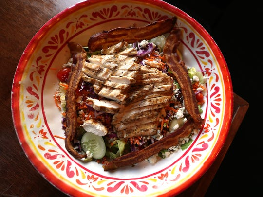 Gatwyns II Grilled Chicken Salad. The restaurant, a 19-year-old classic American pub located in Jefferson. August 3, 2016, Jefferson, NJ