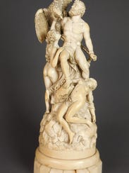 This ivory sculpture created in 1879 is a copy of Eduard