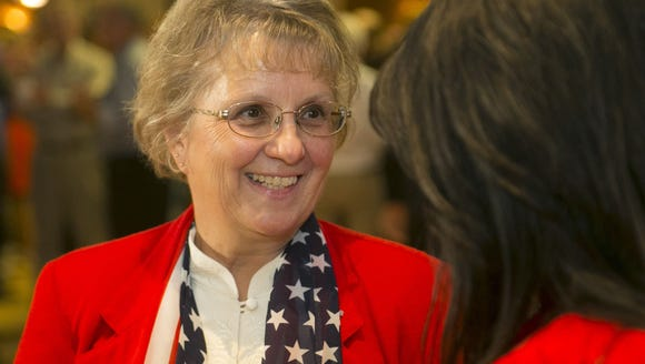 Diane Douglas, (left) who is running for Arizona Superintendent