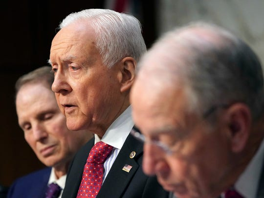 Senate Finance Committee Chairman Orrin Hatch, R-Utah,