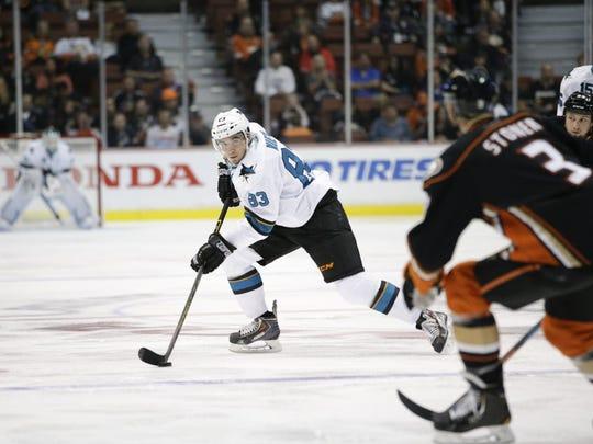 San Jose Sharks' Matt Nieto skates during the first