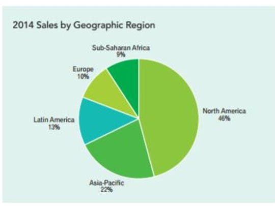 Buckman 2014 sales by region