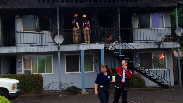 Albany Fire personnel responded to an apartment complex Wednesday morning. One person died in the fire.