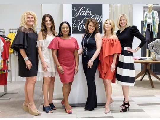 Event chairs Deeanne Cervini, from left, and Doris Lapico, Amber Hunter of T2B, Ina Levinson of Saks Fifth Ave, event chair Stephanie Zekelman and Betsy Gould of Saks.