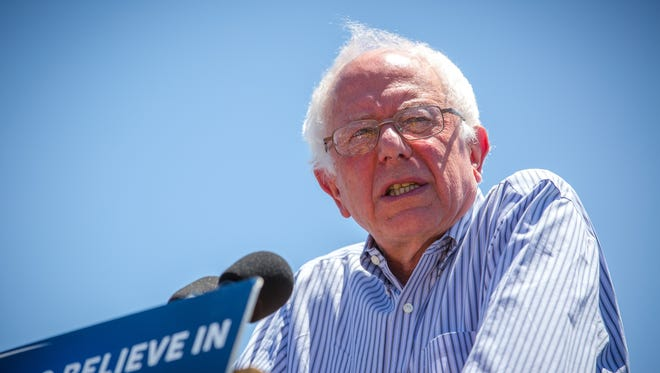 "Presidential candidate Bernie Sanders spoke in May in  in Vado, N.M. Sanders' book ""Our Revolution: A Future to Believe In"" is scheduled to come out Nov. 15, a week after Election Day."