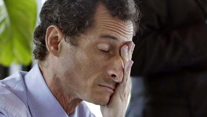 Anthony Weiner is pictured in this 2014 file photo in New York.