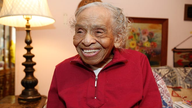 Dr. Olivia Hooker, who will turn 102-years-old, at her home in Greenburgh on Feb. 6, 2017.