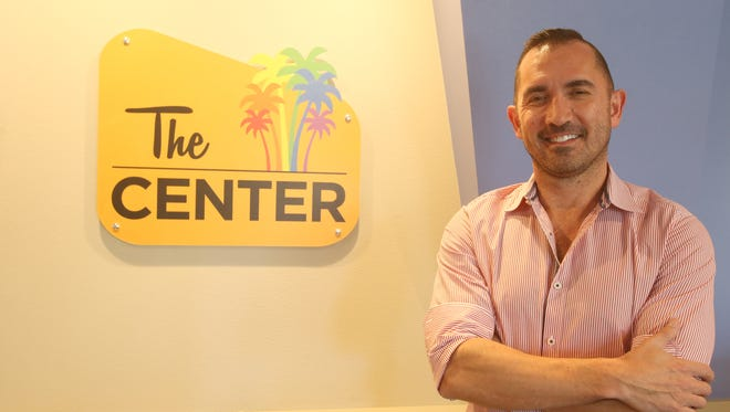 Mike Thompson, Director of the LGBT Center is photographed at the new location on North Palm Canyon.