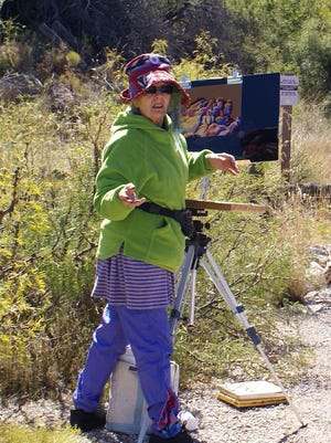 Rami Scully says she  finds inspiration in plein air painting.
