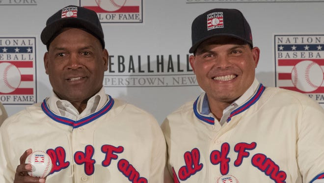 Tim Raines and Ivan Rodriguez were elected to the Hall of Fame in 2017.