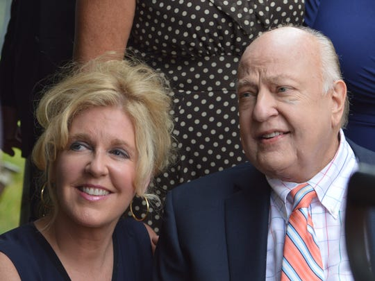 Roger Ailes, right, and his wife, Elizabeth, at the