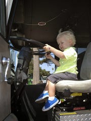 Touch-A-Truck attracted scores of kids in its first year.