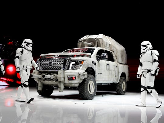 "The ""Star Wars""-themed Nissan Titan custom truck is"