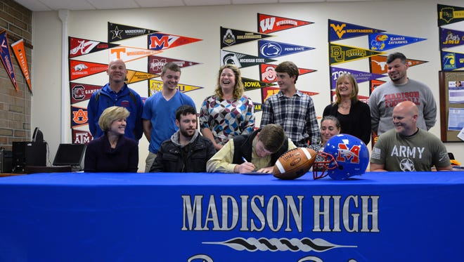 Madison senior Dylan Hilemon has signed to play college football for Guilford.
