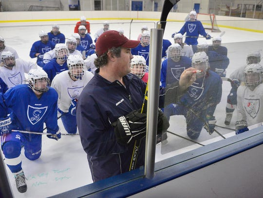 Sartell head boys hockey coach Ryan Hacker details