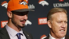 Paxton Lynch and John Elway