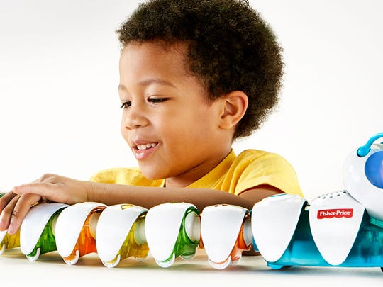 This Fisher-Price smart toy is a colorful caterpillar