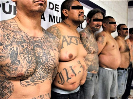Ten alleged members and associates of the Barrio Azteca gang were arrested in the Bellavista neighborhood in Juárez. File art.