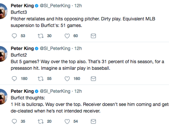 MMQB Editor Peter King reacts to Vontaze Burfict's