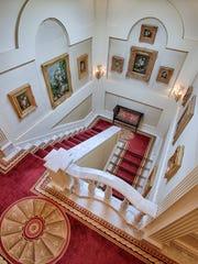 A staircase at Villa Collina.