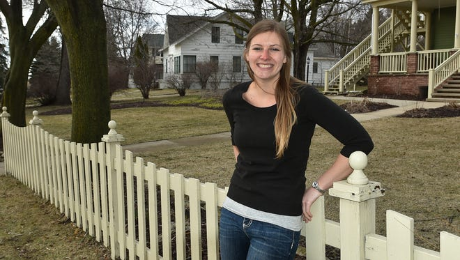 UW-Madison student Catrina Revolinski of Green Bay is heading an internship project of house painters titled College Works Painting in Door County.