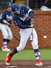 Vanderbilt first baseman Julian Infante (22) grounds