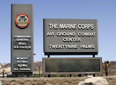 How big is 29 palms marine base