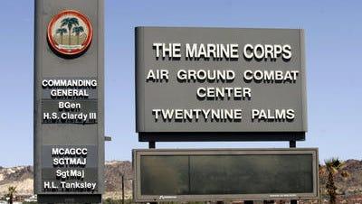 Marine Corps Air Ground Combat Center in Twentynine Palms. [DESERT SUN FILE PHOTO]