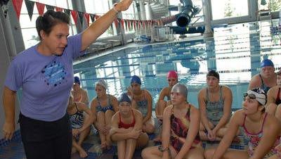 Marysville High School swim coach and Woodland Developmental Center teacher Julie Rogers is preparing for the U.S. Masters Swim Nationals next month.