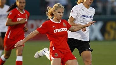 Boston Breakers midfielder McCall Zerboni , shown in this 2011 file photo, was a fan favorite for Western New York from 2011 to 2014.