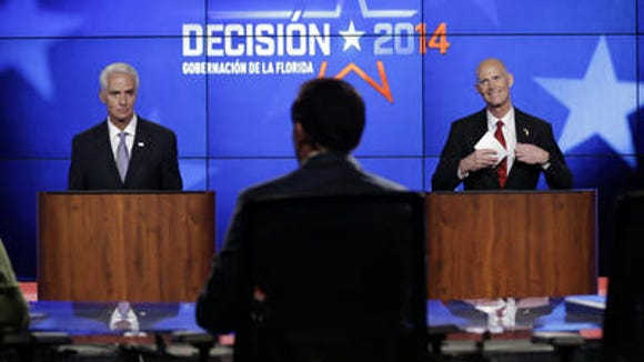 Charlie Crist and Rick Scott have spent a combined $108 million on TV ads. Makes you wonder why.