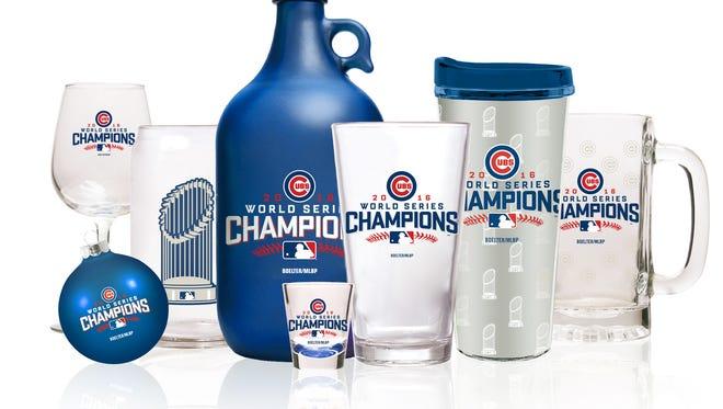 Glendale-based Boelter Brands LLC is producing Chicago Cubs championship merchandise.