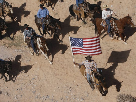FILE - In this April 12, 2014, file photo, the Bundy