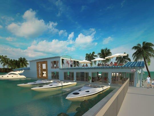 Artist rendering of proposed Crabby's Dockside restaurant