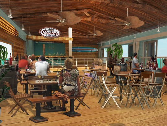 Artist rendering of the interior of a proposed Crabby's