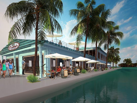 Artist rendering of a proposed Crabby's Dockside restaurant